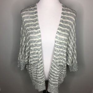 Urban Outfitters BDG Gray & White Stripe Cardigan
